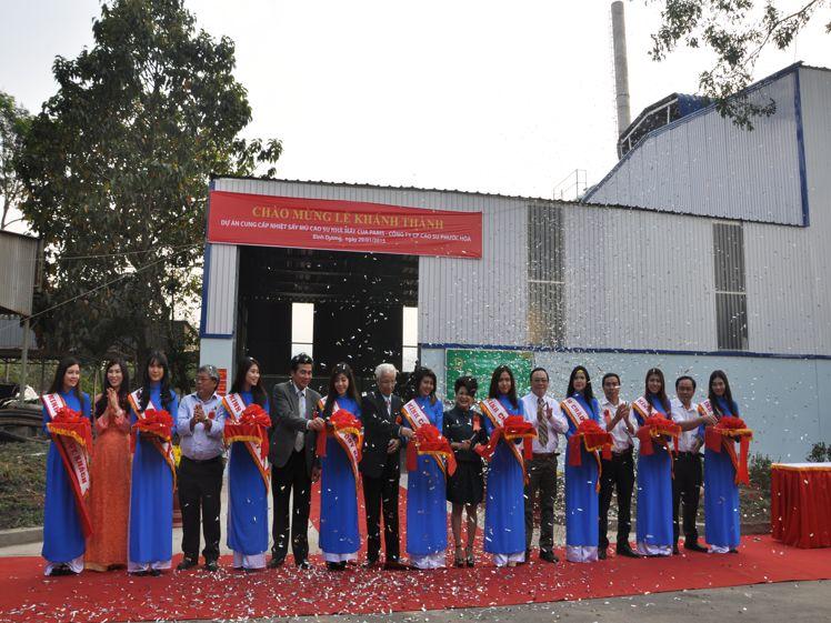 Buổi lễ khánh thành dự án cung cấp nhiệt sấy mủ cao su Nhà Máy Cua Paris thuộc công ty CP Cao Su Phước Hòa
