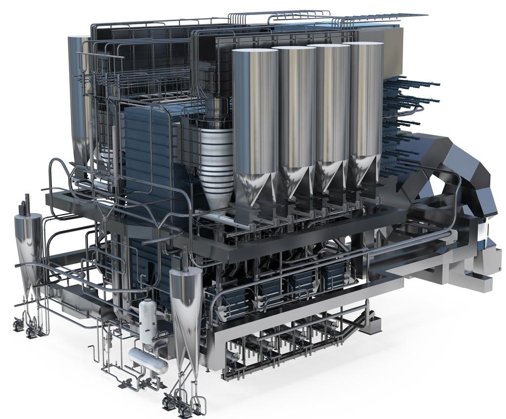 Lò hơi tầng sôi tuần hoàn siêu tiết kiệm nhiên liệu