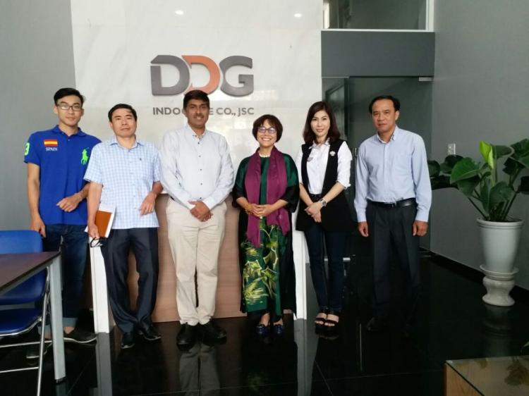 Lãnh đạo Công ty Rishikesh Exports - Maharashtra, Ấn Độ thăm công ty Đông Dương