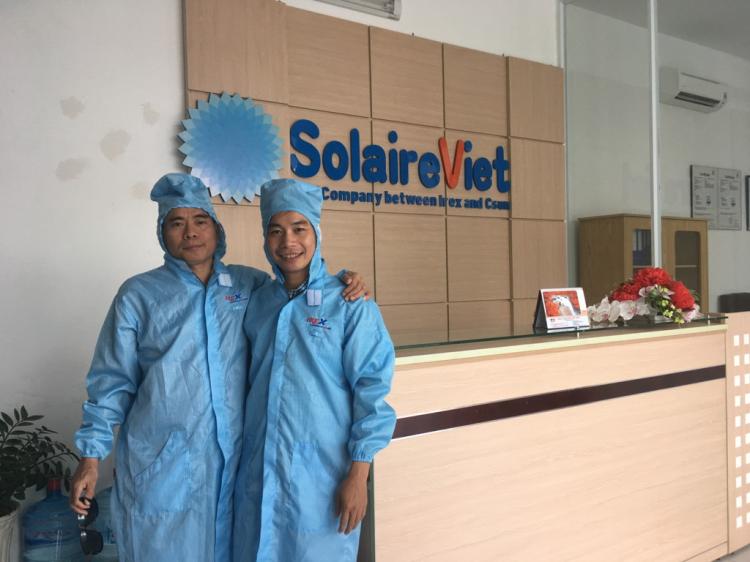 Lãnh đạo công ty Đông Dương tham quan nhà máy pin NLMT IREX của Solar BK